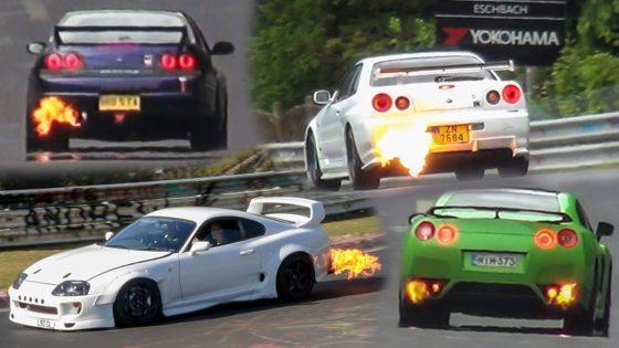 """Αυτοκίνητα κάθε είδους """"ξερνάνε"""" φωτιές στο Nurburgring (vid)"""