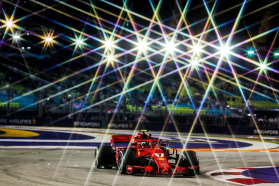 GP Σιγκαπούρης FP2: Ταχύτερος ο Raikkonen για 0.011s – Επαφή με τον τοίχο ο Vettel