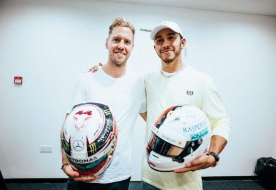 Ο Hamilton μιλά για την ανταλλαγή κράνους με τον Vettel
