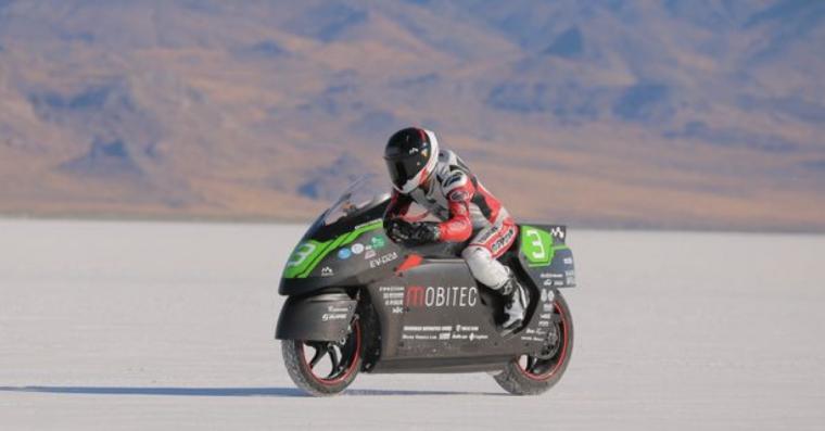 Έσπασε το ρεκόρ τελικής ταχύτητας για ηλεκτρική μοτοσυκλέτα