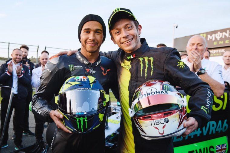 H ιστορική ανταλλαγή μεταξύ Hamilton και Rossi (Vid+photos)